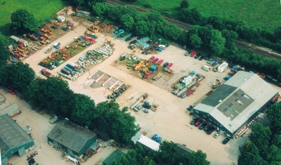 Aerial view of Dinton Works in late 1990s