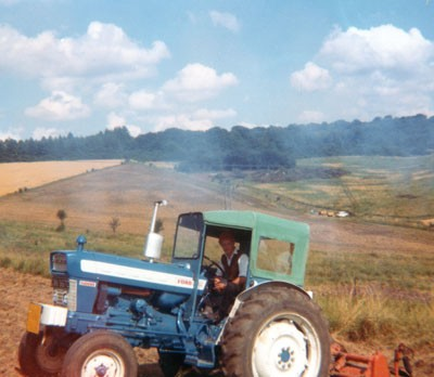 MJ Abbott's first tractor (1960s)