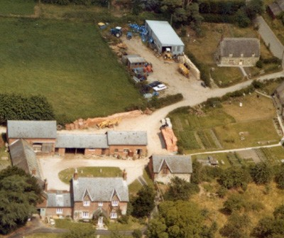 MJ Abbott's first Yard and Workshop at East Farm, Dinton (1970s)