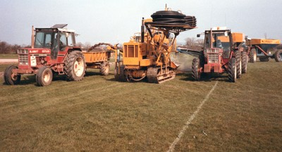 One of the first sports turf trenchers in the UK (1980s)