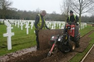Shown trenching for irrigation mainline pipework