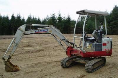 Takeuchi TB016 mini excavator - 1.5 tonne