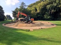 MJ Abbott starts greens reconstruction at Long Ashton