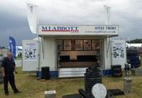 MJ Abbott's new exhibition trailer a great success despite the rain