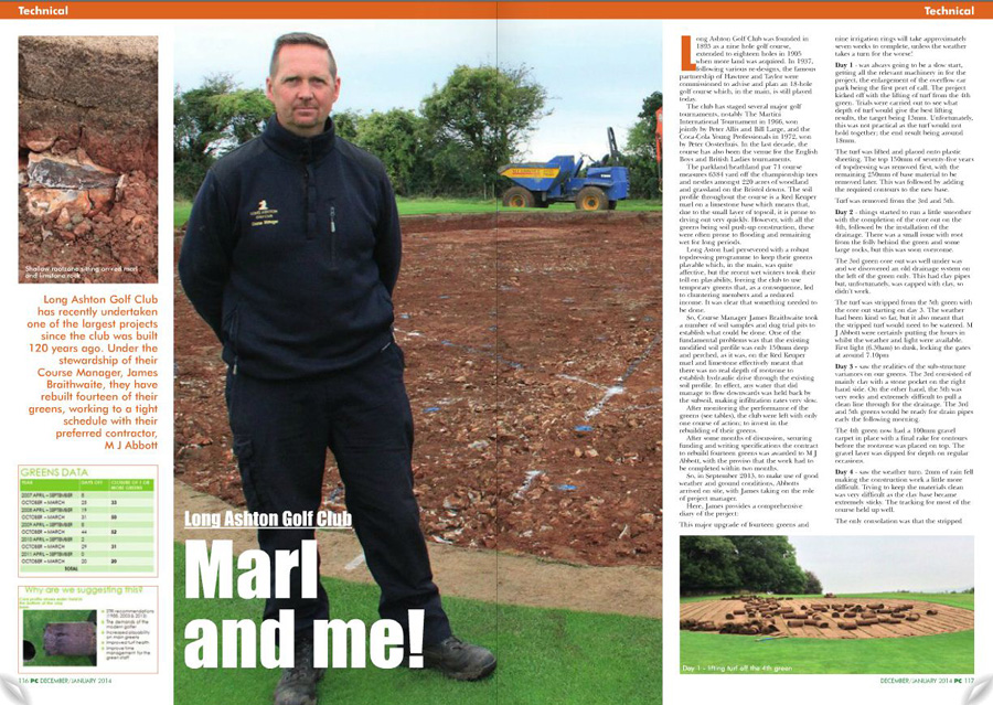 MJ Abbott golf project featured in PitchCare