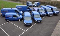 MJ Abbott's new Mercedes vans take to the road