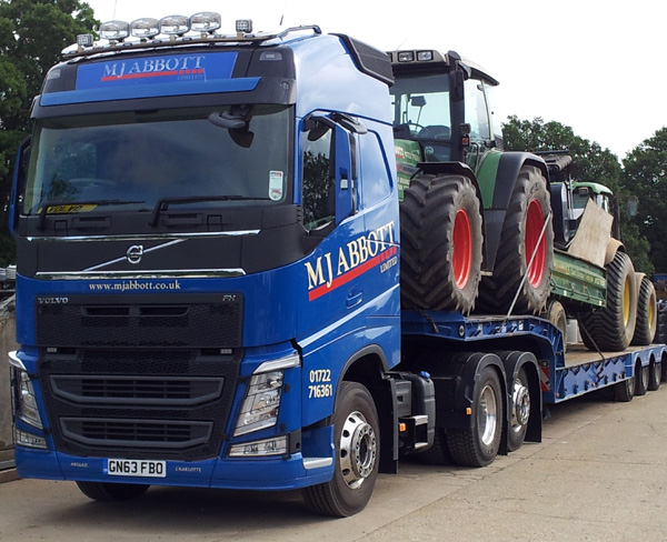 MJ Abbott's new Volvo low loader takes to the road — MJ Abbott