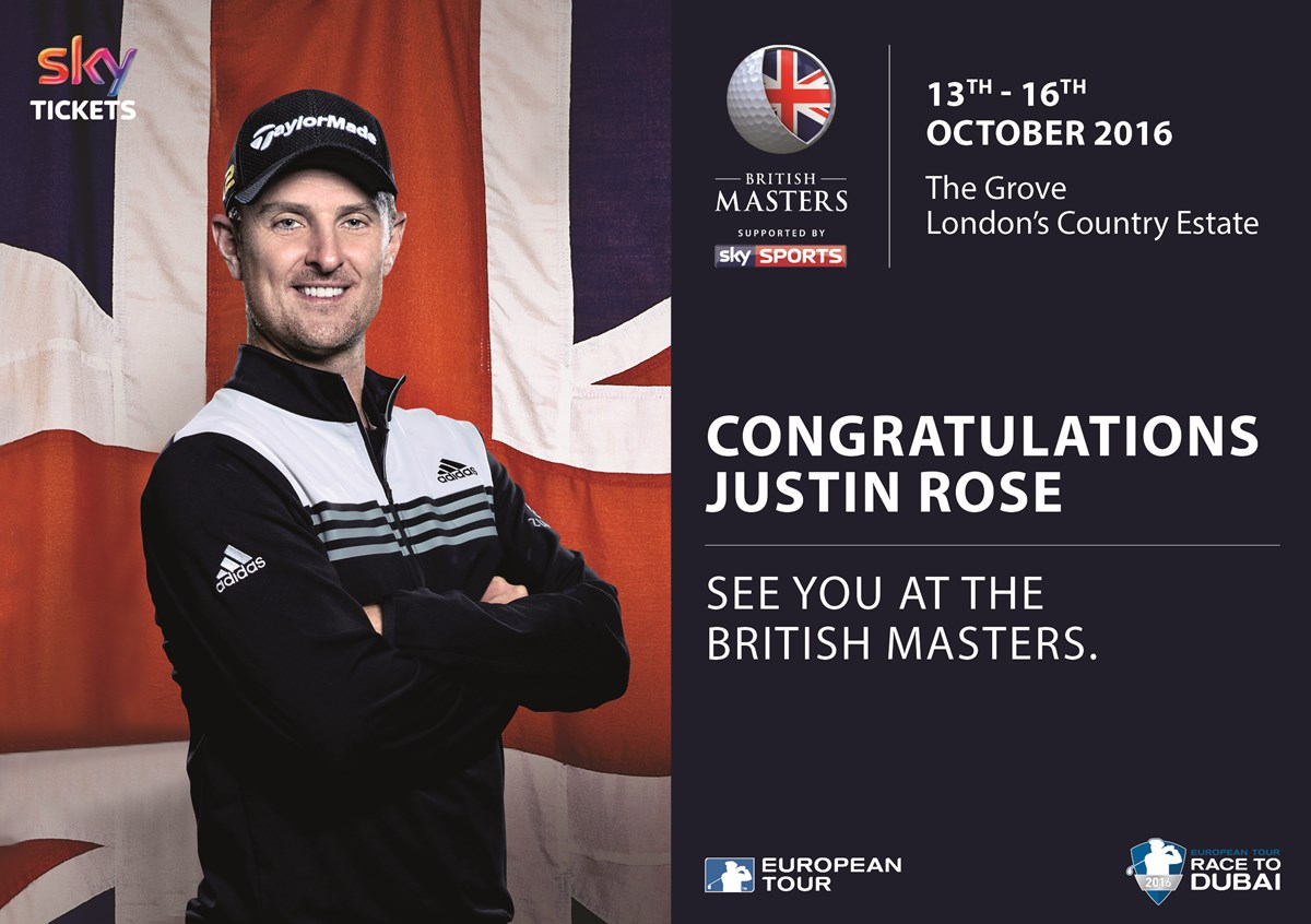 Olympic champion Rose set for British Masters homecoming