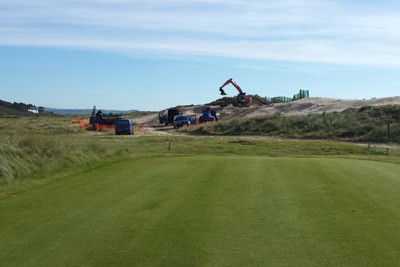 View of works in progress from the tee