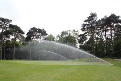 Toro DT35 sprinklers in operation