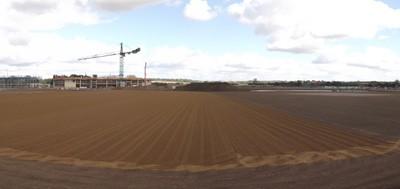 Sand application prior to seeding