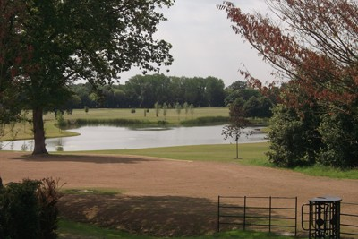 View down from the new property, looking into the finished lakes and surrounds