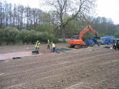 Golpla sales access road construction