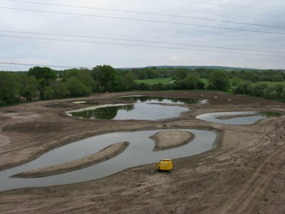 Large wetland being filled