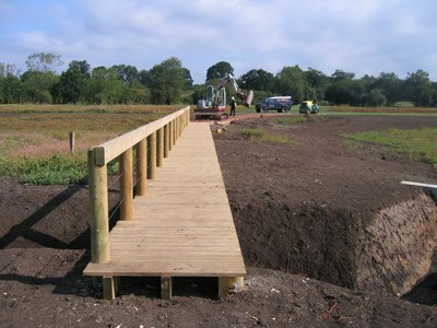 Timber boardwalk and path construction