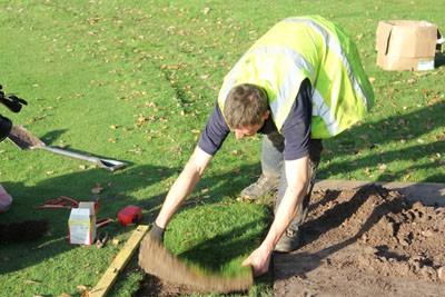Replacing turf