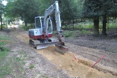 Compaction of sand backfill