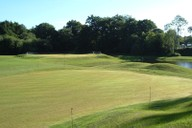 Completed practice putting green, chipping green and pond