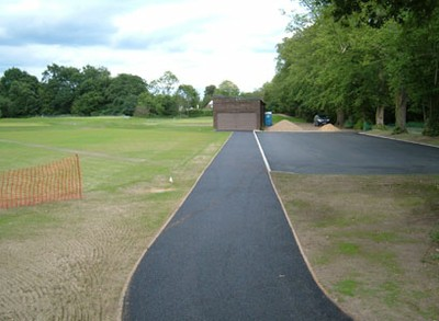 New path to practice tee and car park