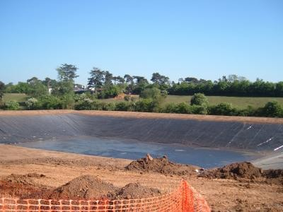 Reservoir following liner installation