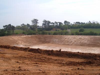 Reservoir prior to liner installation