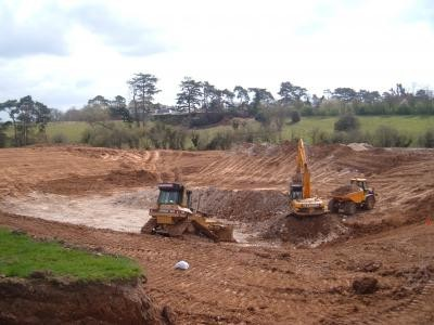 Subsoil cut and fill earthworks