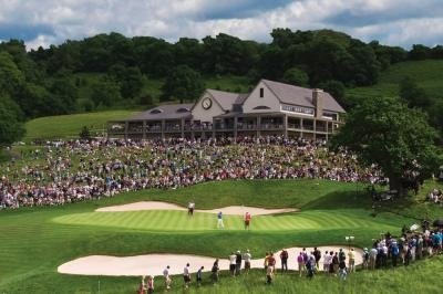 The Twenty Ten 18th Green during the Wales Open
