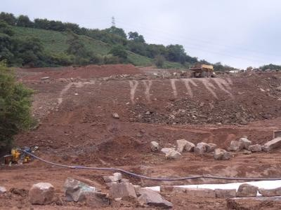 Construction of the 18th Green