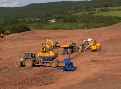 Fairway drainage installation