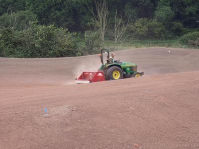 Seeding green surrounds