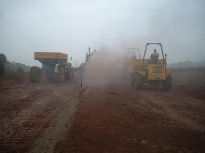 Trenching with rock wheel