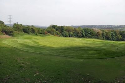 7th Green complex following turfing