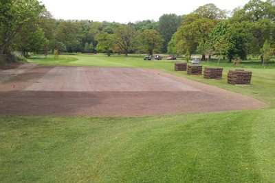 New 17th Tee ready for turfing