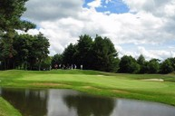 The newly renovated Filly Course in play