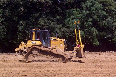 CAT D6 during initial earthworks