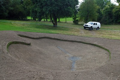 Hole 4 - RH greenside bunker re-shaped, edged, drained and re-soiled