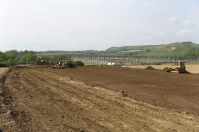 Construction of new pitch