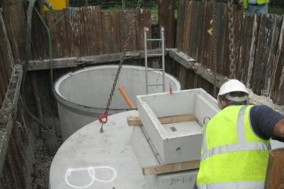 Installation of treatment plant