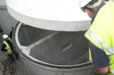 Treatment plant installation