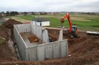 Underground concrete water storage tank