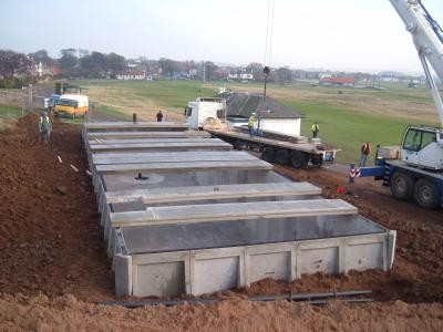 Installation of roof to water storage tank