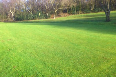 16th Green in January 2015, following drainage works in Autumn 2014