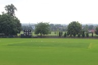 Cricket square during grow-in by Harrow School
