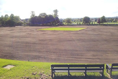 Topsoil re-spread to surrounds prior to sand spreading and amelioration works