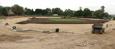 Topsoil re-spreading in progress