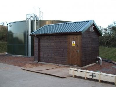 Water storage tank and pumphouse