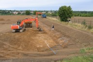 Construction of drainage swales