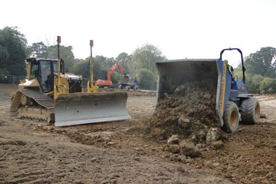 Cut & fill earthworks to pitch formation