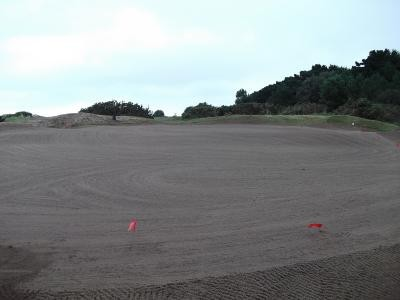 11th Green prepared for turfing
