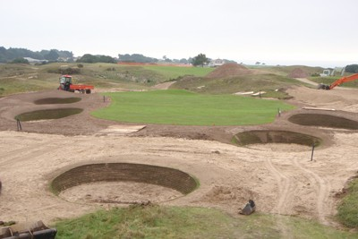 New 12th Green nearing completion